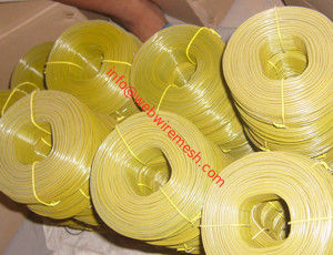 Yellow,Blue,Red and Green Color High Quality PVC Coated Rebar Tie Wire